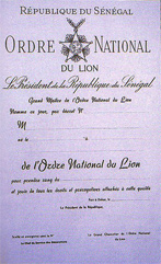 Ordre National du Lion